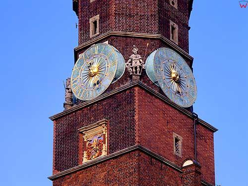 zegar na ratuszu Wrocławskim