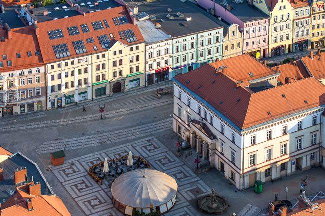Zlotoryja, Rynek Miejski. EU, PL, Dolnoslaskie. Lotnicze.