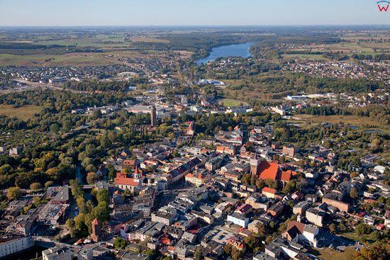 Lotnicze, EU, PL, Kujawslo - Pomorskie. Panorama na Brodnice.