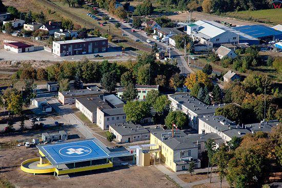Lotnicze, EU, PL, Kujawslo - Pomorskie. Szpital z ladowiskiem dla smiglowca w Brodnicy.