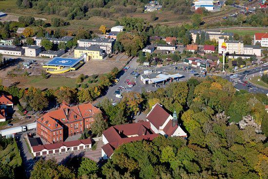 Lotnicze, EU, PL, Kujawslo - Pomorskie. Centrum Brodnicy.