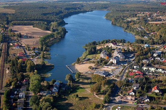 Lotnicze, EU, PL, Kujawsko - Pomorskie. Pojezierze Chełminskie. Jezioro Niskie Brodno.
