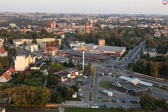 Brodnica, panorama okolicy ulicy Sadowej. EU, PL, Pomorskie. Lotnicze.