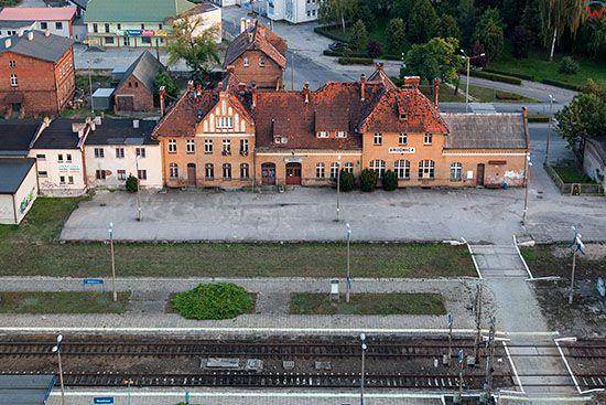 Brodnica, dworzec kolejowy. EU, PL, Pomorskie. Lotnicze.
