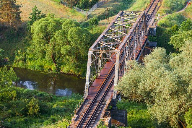 Brodnica, wiadukt kolejowy nad Drweca. EU, PL, Kujaw-Pom. Lotnicze.