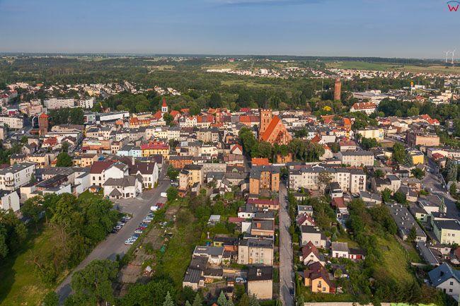 Brodnica, panorama od strony E. EU, PL, Kujaw-Pom. Lotnicze.