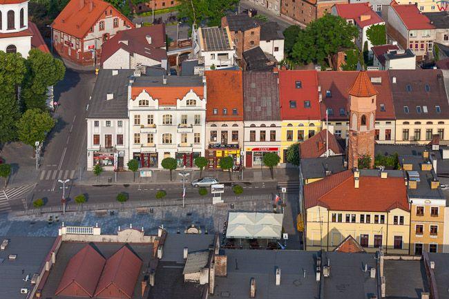 Brodnica, Duzy Rynek z Ratuszem. EU, PL, Kujaw-Pom. Lotnicze.