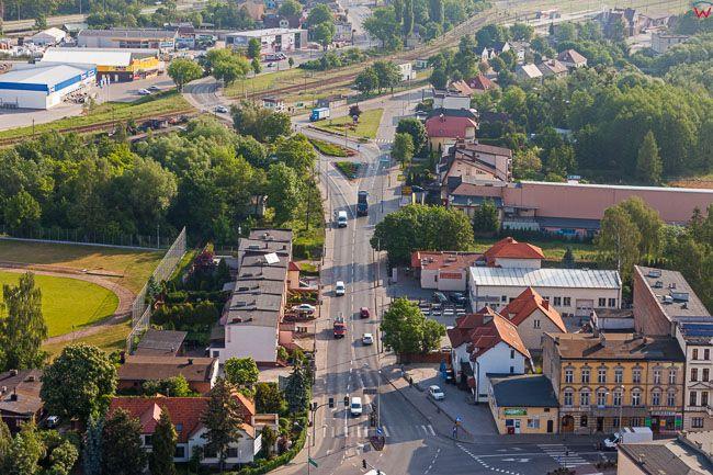 Brodnica, okolica Dworcowej. EU, PL, Kujaw-Pom. Lotnicze.