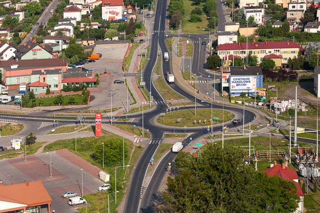 Brodnica, panorama na ulice Sadowa. EU, PL, Kujaw-Pom. Lotnicze.