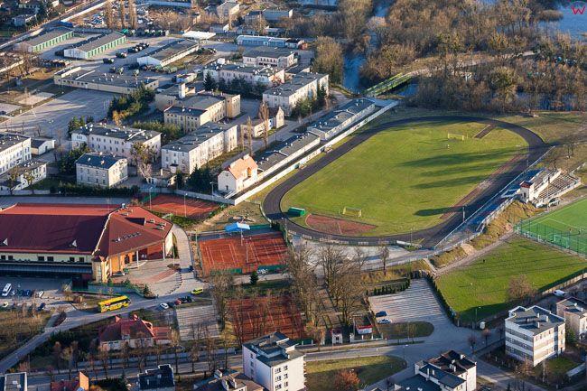Brodnica, stadion OSiR. EU, PL, Kujawsko - Pomorskie. Lotnicze