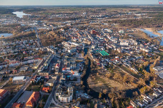 Brodnica, panorama mista od strony S. EU, PL, Kujawsko - Pomorskie. Lotnicze
