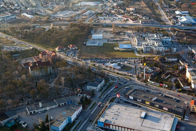 Brodnica, ulica Sadowa. EU, PL, Kujawsko - Pomorskie. Lotnicze