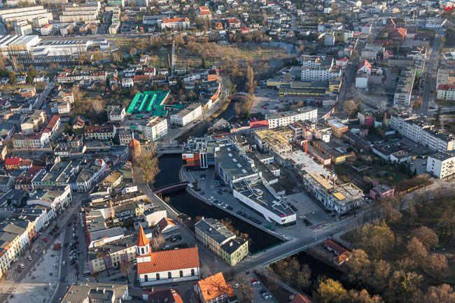 Brodnica, Galeria handlowa. EU, PL, Kujawsko - Pomorskie. Lotnicze