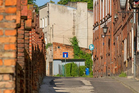 Chelmno - ulica Koscielna. EU, PL, Kujawsko-Pomorskie.