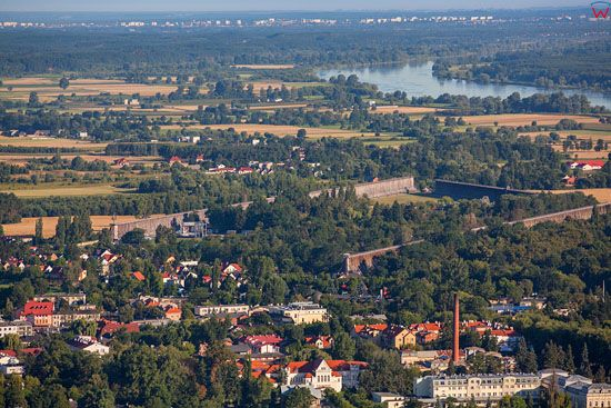 Ciechocinek. Panorama na miasto.  EU, Pl, Kujaw-Pom. LOTNICZE. EU, Pl, Kujaw-Pom. LOTNICZE.