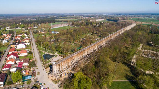 Ciechocinek, panorama na Teznie nr I od strony E. EU, PL, kujawsko-pomorskie. Lotnicze