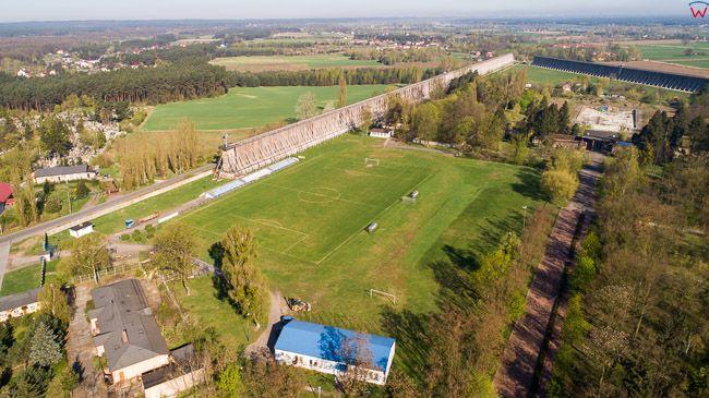 Ciechocinek, panorama na Teznie nr II od strony E. EU, PL, kujawsko-pomorskie. Lotnicze