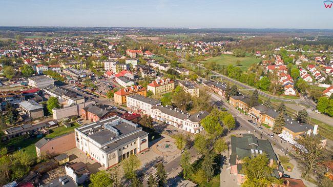 Ciechocinek, panorama miasta. EU, PL, kujawsko-pomorskie. Lotnicze