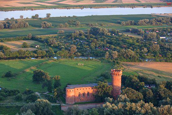 Swiecie - zamek. EU, PL, Kujawsko-Pomorskie. LOTNICZE.
