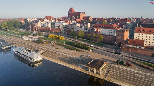 Torun, Bulwar Filadelfiski. EU, PL, kujawsko-pomorskie. Lotnicze