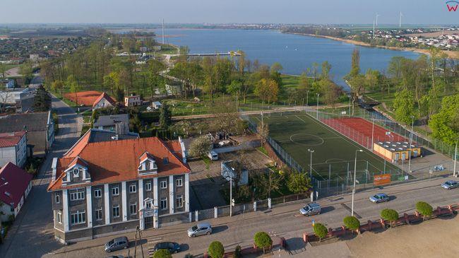 Znin, okolica ulicy Sadowej. EU, PL, kujawsko - pomorskie. Lotnicze.