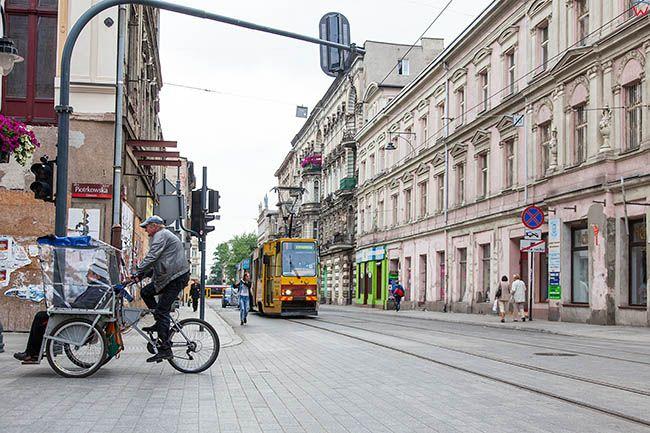 Lodz, ulica Piotrkowska. EU, PL, Lodzkie.