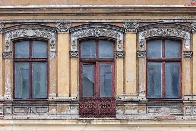 Lodz, elewacja kamienicy przy ulicy Piotrkowskiej. EU, PL, Lodzkie.