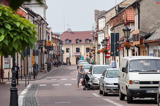 Lowicz, ulica Zdunska. EU, PL, Lodzkie.