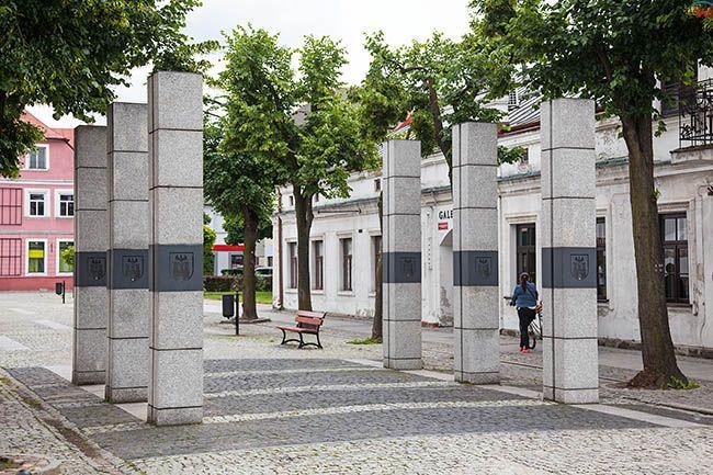 Sieradz, ulica Kosciuszki. EU, Pl, Lodzkie.