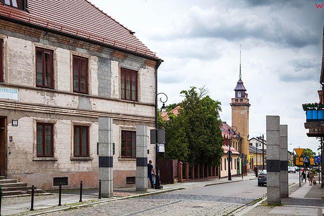 Sieradz, ulica Kolegiacka. EU, Pl, Lodzkie.