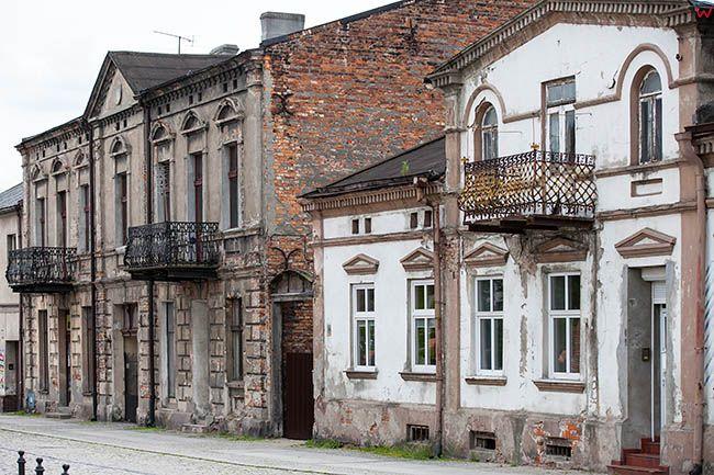 Sieradz, kamienice przy ulicy Kolegiackiej. EU, Pl, Lodzkie.