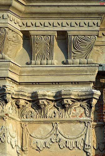 Detal architektoniczny pałacu Firlejów w Dąbrowicy