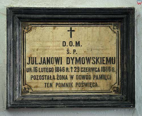 Lubelskie. Lublin, wnetrze kosciola sw. Ducha, tablica.