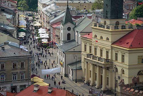 Lubelskie. Lublin, panorama na Krakowskie Przedmiescie.