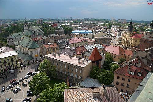 Lubelskie. Lublin, panorama na miasto.