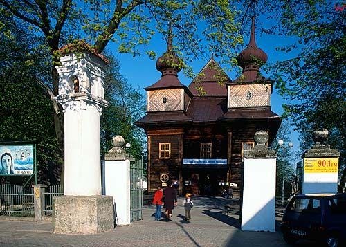Tomaszow Lubelski-kościół drewniany d040163 polska europa fot. Wojciech Wójcik