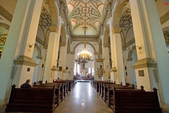 Wnetrze Katedry w Zamosciu. EU, Pl, Lubelskie.