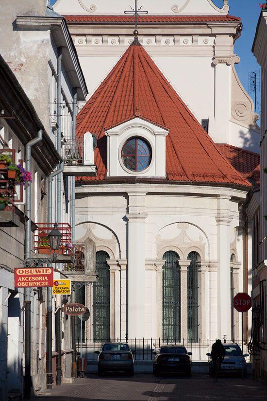Ulica Zeromskiego z widoczna Katedra w Zamosciu. EU, Pl, Lubelskie.