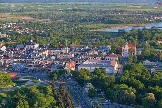 Zamosc - panorama od strony N. EU, PL, Lubelskie. LOTNICZE.