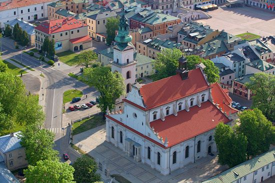 Zamosc - Katedra. EU, PL, Lubelskie. LOTNICZE.