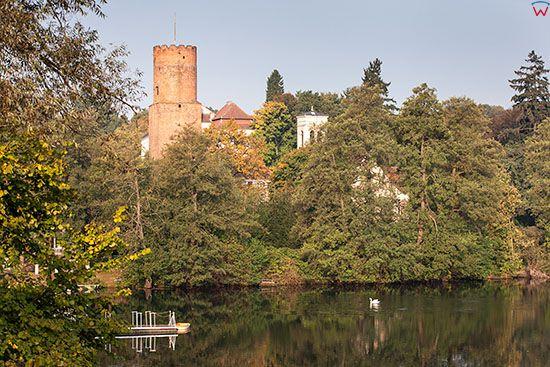 Lagow, Zamek nad jeziorem Ciecz. EU, Pl, Lubuskie.