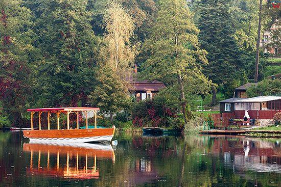 Lagow, jezioro Ciecz. EU, Pl, Lubuskie.