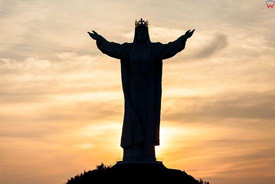 Swiebodzin, panorama pomnika Jezusa Chrystusa Krola Wrzechswiata. EU, PL, Lubuskie.