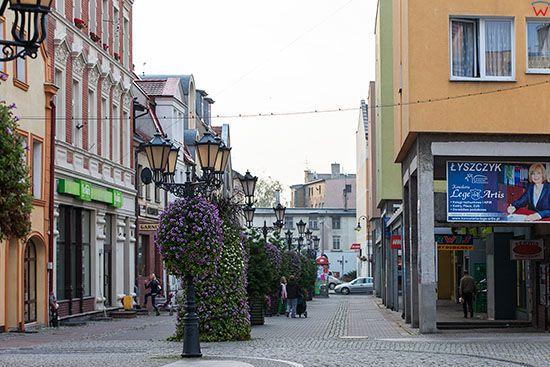 Swiebodzin, ulica 1-go Maja. EU, Pl, Lubuskie.