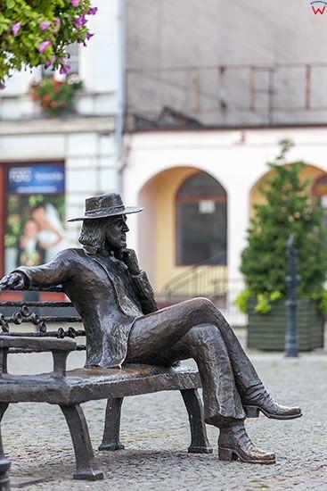 Swiebodzin, laweczka Czeslawa Niemena. EU, Pl, Lubuskie.