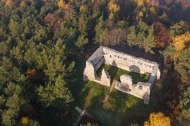 Zamek Bydlin. EU, Pl, Malopolska. Lotnicze.