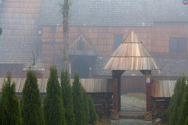 Debno, drewniany kosciol Michala Archaniola. EU, Pl, Malopolska.