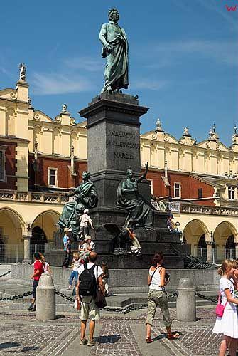 Krakow. Pomnik Adama Mickiewicza.