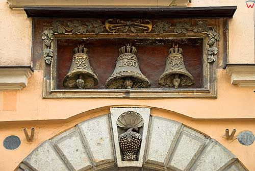 Krakow. Kamienice przy ulicy Florianskiej.