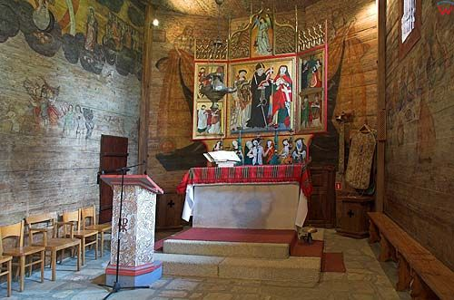 Lipnica Murowana, drewniany kościół św. Leonarda, małopolska